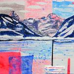 Tinzenhorn e Piz Mitgel (mista su tela) 30 x 30 - 2011