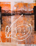Vadret Arpschella e vadret Grialetsch con piz Sarsura (mista su tela) 40 x 50 - 2012