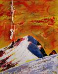 Il sogno  (Biancograt) misto su tela 50 x 40 - 2012