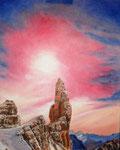 Il Campanile di Val Montanaia 40 x 50 (olio su tela)