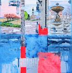 """Martignacco (mista su tela) 30 x 30 - 2011 """"ripercorrendo il nostro passato, possiamo forse illuminare i confini dell'anima"""""""