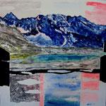Laghetto al Silvretta, Klosters (mista su tela) 30 x 30 - 2011