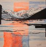 Bernina da Morteratsch (mista su tela) 30x30 - 2016 collezione privata
