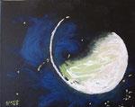 luna (acrilico) 2009 omaggio a Schifano COLLEZIONE PRIVATA