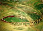 Il viadotto di Brusio (tecnica mista) 2009 - 50 x 70COLLEZIONE PRIVATA