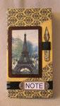 """Мужской блокнот """"Париж"""". Размер 10х20 см. 50 листов."""