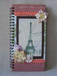 """Блокнот """"С любовью из Парижа..."""". Размер 10х20 см. 50 листов."""