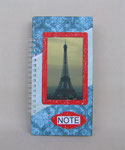 "Красно-синий блокнот ""Париж"". Размер 10х20 см. 100 листов."