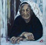 Femme de Lin (Albanie). 30x30.