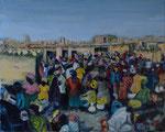 Marché à Sangha (Mali). 50x40