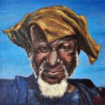 Chasseur dogon (Mali). 30x30.