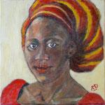 Femme sénégalaise. 30x30.
