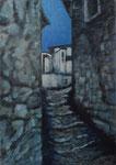 vieille ville de Berat (Albanie). 70x50.