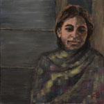 Jeune fille indienne. 50X50.