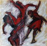 Danseuses à la manière de Quiesse. 60X60.