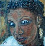 Femme africaine. 30x30.