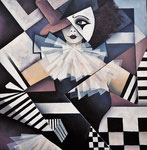 """Joker"", Acryl auf Leinwand, 60x60cm"