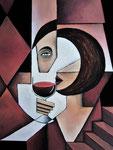 """Rotweinrot"", Acryl auf Leinwand, 40x50cm"