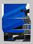 """""""Subultur"""",  Acryl auf Holz/Leinwand, spezielles Format mit ausgesägten Kanten, ca. 60x80cm"""