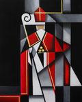 """Nikolaus"" Acryl auf Leinwand, 40x50cm"