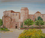 Monasterio de San Feliu de Guixols  46x55               VENDU