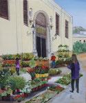 las flores del mercado   60x 50