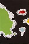 Inseln im Schwarzen Meer, Mischtechnik auf Lenwand, 2009   80x120cm