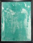 Transfer Picture Grün I, Kunstharzdispersion auf Baumwolle, 2001    70x90cm