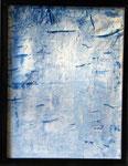 Transfer Picture Blau I, Kunstharzdispersion auf Baumwolle, 2001   70x90cm