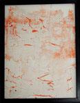 Transfer Picture Orange II, Kunstharzdispersion auf Baumwolle, 2002     70x90cm