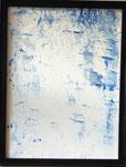 Transfer Picture Blau II, Kunstharzdispersion auf Baumwolle, 2001   70x90cm