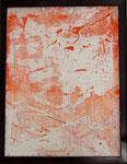 Transfer Picture Orange I, Kunstharzdispersion auf Baumwolle, 2002    70x90cm
