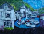 Polperro Cornwall - 2013 - Acryl auf Papier - 90x70 cm - Erhältlich