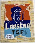 """46 """"L'Arsène"""" acrylique et collage/toile 45x35cm 2006 vendu"""