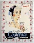 """45 """"Couperose"""" acrylique et collage/toile 80x60cm 2006 collection de moi"""
