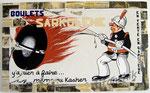 """48 """"Sarkolène"""" acrylique et collage/toile 105x64cm 2006 800€"""
