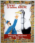 """43 """"La grippe Abière"""" acrylique et collage/toile 100x80cm 2006  900€"""