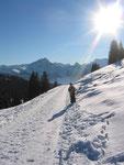 Schneeschuh laufen zur Vorderen Höhe