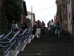 Treppe: Montagne de Bueren; 373 Stufen auf den Hügeln der Zitadelle