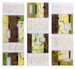 Mediterranean Winter - Técnica mixta sobre madera con resina epoxi - 3x (120 x 40 cm)
