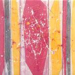 Pinky Yelly I -  Técnica mixta sobre madera con resina epoxi - 50 x 50 cm