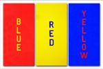 2011: BlUE RED YELLOW II - Acryl auf Leinwand - 3x(100 x 50 cm)