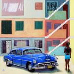 2012: Escena en La Habana - Óleo sobre lienzo - 100 x 100 cm