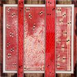 Double Heart I - Técnica mixta sobre madera con resina epoxi - 40 x 40 cm