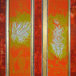 Dancing Green I - Técnica mixta sobre madera - 80 x 80 cm