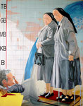 2005: wehwehweh lieber Gott komm - Óleo sobre lienzo - 162 x 130 cm
