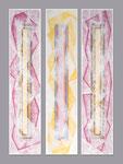 Broken Glass - Técnica mixta sobre madera con resina epoxi - 3x(160 x 35 cm)