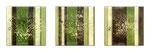 Bushes - Técnica mixta sobre madera con resina epoxi - 3x (20 x 20 cm)