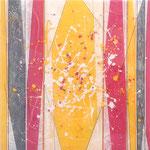 Pinky Yelly II - Técnica mixta sobre madera con resina epoxi - 50 x 50 cm