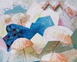 2013: Piscina de un hotel - Mixed Media on canvas - 120 x 150 cm